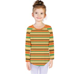 Striped Pictures Kids  Long Sleeve Tee