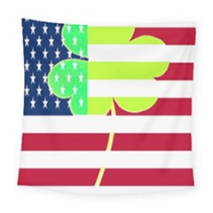 Usa Ireland American Flag Shamrock Irish Funny St Patrick Country Flag  Square Tapestry (large) by yoursparklingshop