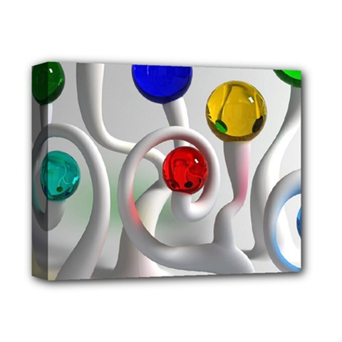 Colorful Glass Balls Deluxe Canvas 14  X 11  by Jojostore