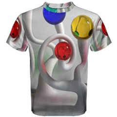 Colorful Glass Balls Men s Cotton Tee