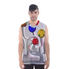Colorful Glass Balls Men s Basketball Tank Top