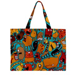 Creature Cluster Zipper Mini Tote Bag