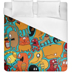 Creature Cluster Duvet Cover (king Size) by Jojostore