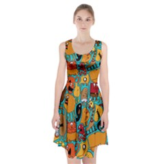 Creature Cluster Racerback Midi Dress by Jojostore