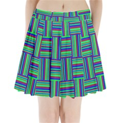 Fabric Pattern Design Cloth Stripe Pleated Mini Skirt