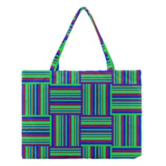 Fabric Pattern Design Cloth Stripe Medium Tote Bag by Jojostore