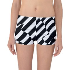 Flaying Bird Black White Reversible Bikini Bottoms