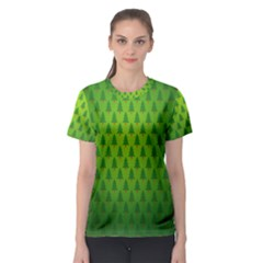 Fire Kindle Wallpaper Christmas Trees Women s Sport Mesh Tee