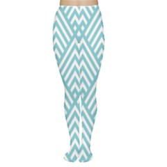 Geometric Blue Women s Tights