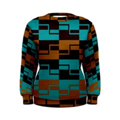 Fabric Textile Texture Gold Aqua Women s Sweatshirt