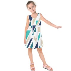 Geometric Kids  Sleeveless Dress
