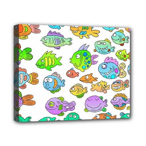 Fishes Col Fishing Fish Canvas 10  X 8  by Jojostore