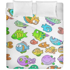 Fishes Col Fishing Fish Duvet Cover Double Side (california King Size) by Jojostore