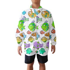 Fishes Col Fishing Fish Wind Breaker (kids)