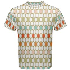 Lab Pattern Hexagon Multicolor Men s Cotton Tee