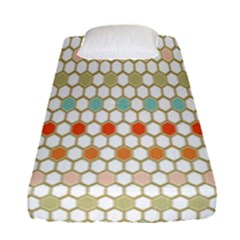 Lab Pattern Hexagon Multicolor Fitted Sheet (single Size)