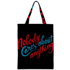 Madmen Nobody Cares Zipper Classic Tote Bag