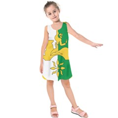 Coat Of Arms Of Abkhazia Kids  Sleeveless Dress
