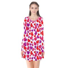 Love Pattern Wallpaper Flare Dress