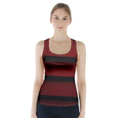 Line Red Black Racer Back Sports Top