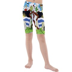 Coat Of Arms Of Antigua And Barbuda Kids  Mid Length Swim Shorts by abbeyz71