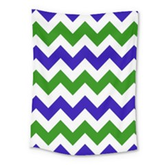 Blue And Green Chevron Medium Tapestry