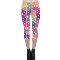 Chevron Colorful Capri Leggings