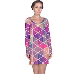 Chevron Colorful Long Sleeve Nightdress