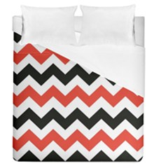 Colored Chevron Printable Duvet Cover (queen Size) by Jojostore