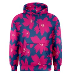 Flower Red Blue Men s Pullover Hoodie