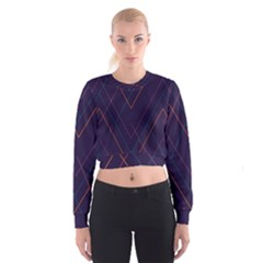 Line Color Women s Cropped Sweatshirt