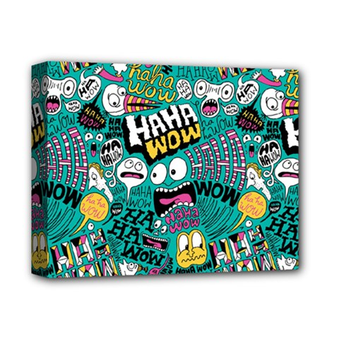 Haha Wow Pattern Deluxe Canvas 14  X 11  by Jojostore