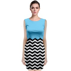 Color Block Jpeg Classic Sleeveless Midi Dress by Jojostore