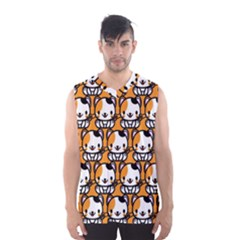 Face Cat Yellow Cute Men s Basketball Tank Top