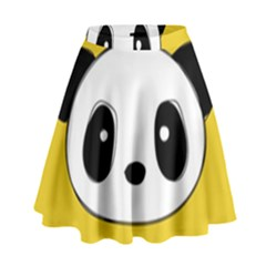 Face Panda Cute High Waist Skirt