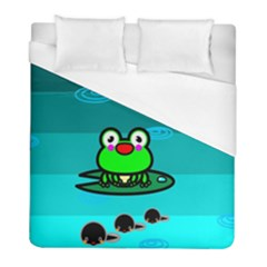 Frog Tadpole Green Duvet Cover (full/ Double Size) by Jojostore