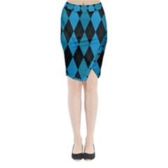 Fabric Background Midi Wrap Pencil Skirt