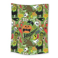 Halloween Pattern Medium Tapestry by Jojostore