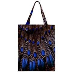Feathers Peacock Light Zipper Classic Tote Bag by Jojostore