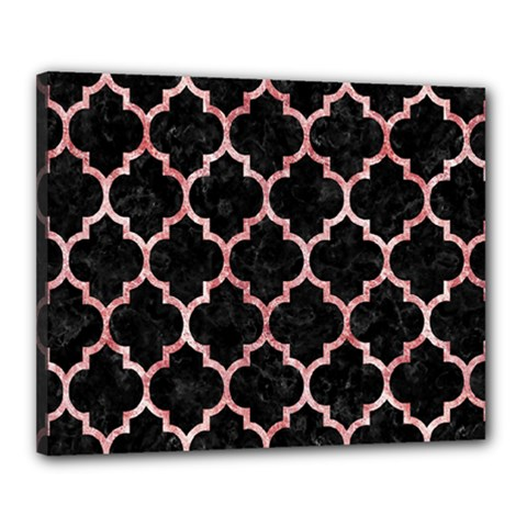 Tile1 Black Marble & Red & White Marble Canvas 20  X 16  (stretched) by trendistuff