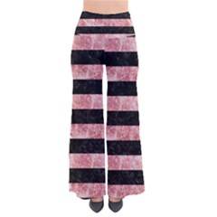 Stripes2 Black Marble & Red & White Marble So Vintage Palazzo Pants by trendistuff