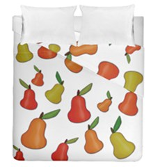 Decorative Pears Pattern Duvet Cover Double Side (queen Size) by Valentinaart