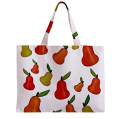 Decorative Pears Pattern Medium Zipper Tote Bag by Valentinaart