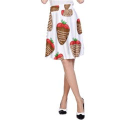Chocolate Strawberries  A Line Skirt by Valentinaart