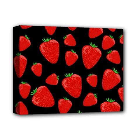 Strawberries Pattern Deluxe Canvas 14  X 11  by Valentinaart