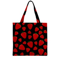 Strawberries Pattern Grocery Tote Bag by Valentinaart