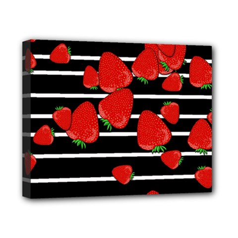 Strawberries  Canvas 10  X 8  by Valentinaart
