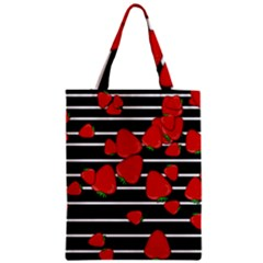 Strawberries  Zipper Classic Tote Bag by Valentinaart