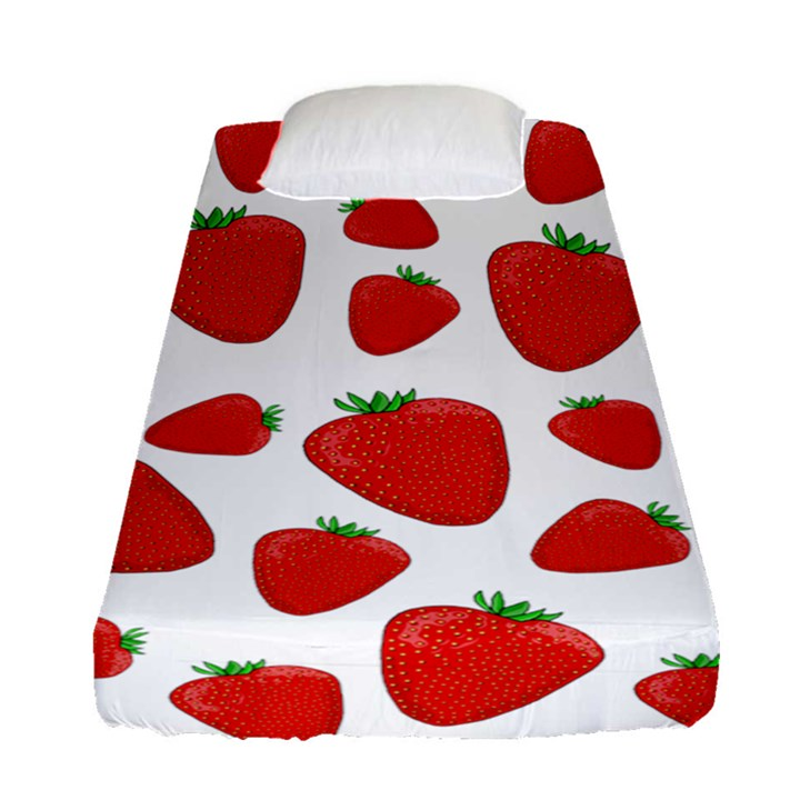 Decorative strawberries pattern Fitted Sheet (Single Size)
