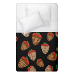 Chocolate Strawberries Pattern Duvet Cover (single Size) by Valentinaart